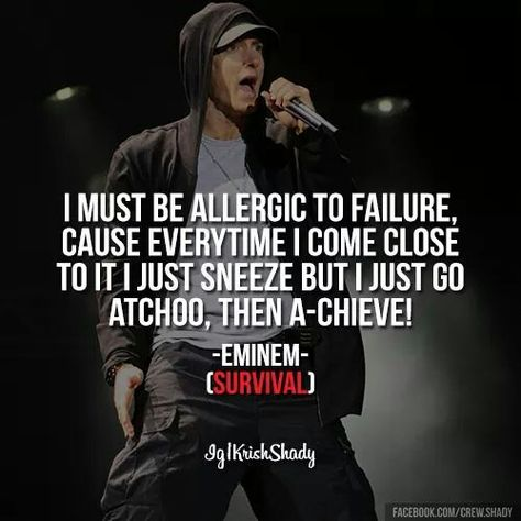 eminem allergic to failure